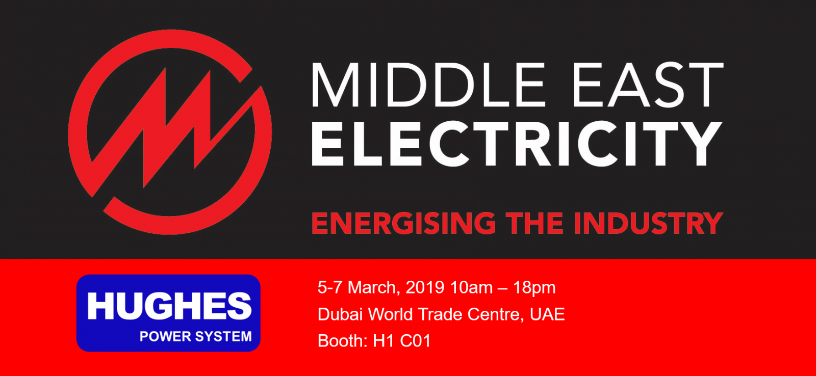 Hughes Power System will participate in MEE exhibition on 5-7th March, 2019, Dubai.